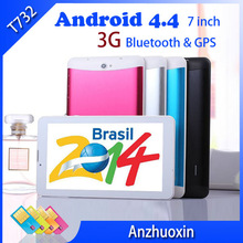 Promotional 7 inch HD 1024*600 3G Colorful WCDMA 1.5GHz*2 4G GPS Bluetooth Dual Core SIM Card Phone Calls Tablet Free Shipping(China (Mainland))