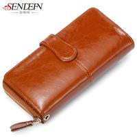 2014  long desigual zipper new oil wax cowhide women wallet desigual genuine leather purses for clutch Bag hasp messenger bag