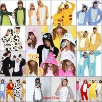 Promotion!Pikachu/Tiger/Panda/Cookie Monster/Owl Adults Flannel Pajamas Pyjamas Anime Cosplay Cartoon Adult Onesies Sleepwear