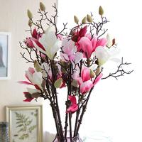 4pcs/lot 82cm High Artificial Single Head Mangnolia Branch Decorative Flowers Home Decor/Decoration Flowers(no vase)