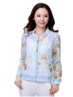 Free Shipping New Plus Size Woman Fashion long-sleeved Transparent Korean Small Printing Jackets, jean jackets women XL-4XXL