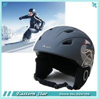 2014 hot sale  factory supply  Integrally molded adult ski sports helmets skateboard skiing helmets