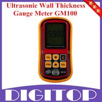 GM100 Ultrasonic Wall Thickness Gauge Meter Tester Gauge Velocity Steel PVC Digital Testing Free Shipping