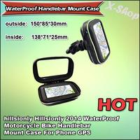 X-SHOP 2014 WaterProof Motorcycle Bike Handlebar Mount Case For Phone GPS 13.6 X 7 X 2cm