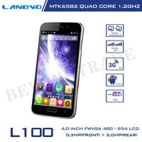 Original LANDVO L100 Mobile Phone MTK6572M Dual Core Android Phone 512MB RAM 4G ROM 2MP Camera Smartphone