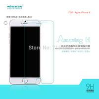 Free ship 60pcs NILLKIN Amazing H Nanometer Anti-Explosion Glass Screen Protectors for Apple iPhone 6 (4.7 inch)
