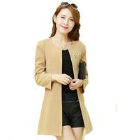 Free Shipping! 2014 Autumn and Spring Women Fashion Big size New Coat,Female European Loose Fashion Jacket M L XL XXL XXXL 4XL
