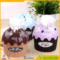 Plastic Ice Cream Style Tissue Box Cover Decorative Box Random Color Quantity 1, Free Shipping, Dropshipping