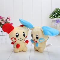 5.5'' 10pcs/lot Pokemon Plush Toys Doll Plusle Minun Plush Toys Free Shipping