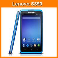 Original Lenovo S890 Android4.1.1 MTK6577 Dual core 1.2G 5 inch android phone 1G RAM 4GB ROM GPS 3G Russian Menu