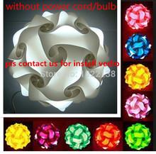 DIY Modern Pendant Ball novel IQ lamp Jigsaw puzzle pendants colorful pendant lights LED DIY adjustable chandelier ceiling lamp(China (Mainland))