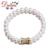 DAIMI Fashion Pearl Bracelet Real Freshwater & Shinny Clasp Party Style Brand Jewelry For Women AFFECTION