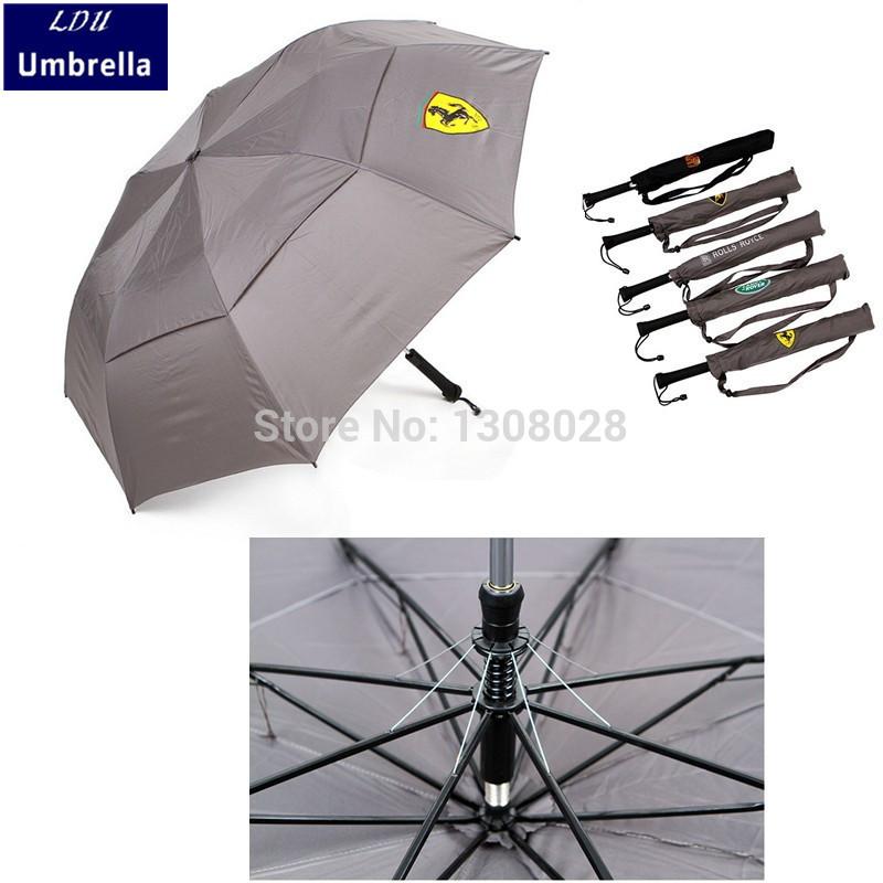 Double Layers Wind Resistant Dualbrella/Two Person Umbrella For Sale!Oversize Semi Automatic Men's Clear Rain Folding Umbrellas(China (Mainland))