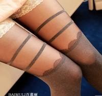 New 2014   high-elastic Lycra  ultra high speed leveling Mosaic pattern pantyhose sexy stockings