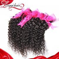 Longqi Hair Brazilian Curly Virgin Hair, 4 Bundles Lot Brazilian Hair Weave Bundles Curly Human Hair Natural Color
