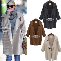 New Women Batwing Sleeve Knitted Cardigan Loose Casual Sweater Lady Jacket Coat ZA women famous brand top quality thick blazer