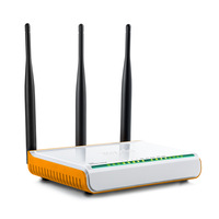 Wifi Router Russian Firmware Wireless Router 300Mbps Wifi Repeater Home Wi Fi 4 Ports 3 Antenna 5dbi Tenda W304R