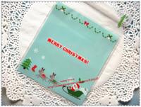 100pcs/lot Christmas series cookie plastic bags,10x11cm ,cupcake packaging bag  self adhesive plastic bag free shipping