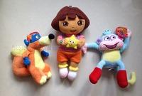 3pcs/lot Dora/Boots Monkey/Swiper Fox Dora The Explorer Plush Stuffed Toys Boneca Dora Aventureira Girls Gift Brinquedos KF492A