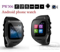 Newest PW306II Android Smart phone Watch MTK6572 1.3G Dual core 512M 4G 1.54 inch Bluetooth 3.0M Camera 3G WCDMA GSM GPS watch