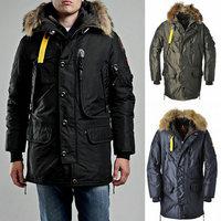Long Parka 2015 Winter Down-Jacket Men Military Brand Jacket Warm Overcoat Outdoor Snow Wear Coat High Quality