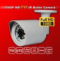 Free shipping HD TVI 1080P1/2.8''Sony Exmor Sensor security camera TVI camera 24IR 3Mega 3.6MM UTC HD-TVI IR bullet cctv camera