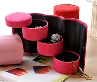 European princess jewelry carrying ring case storage box cosmetic box Korea
