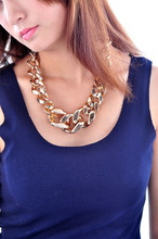 Simple fashion golden CCB thick necklace necklace jewelry