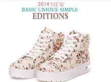 Hot sale Classic Fashion printing women shoes lace up Canvas shoes Flat Platform sneakers JC 8806