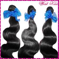WestKiss online shop 2pcs Remy Virgin Indian Wavy dark black bundles deal ladies hair styles BUY NOW