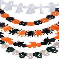 5 Styles 3m Pumpkin/Spider/Bat/Ghost/Skull Halloween Decorations Paper Garland Hot Trendy Decoration For Halloween Props