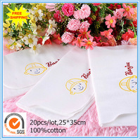 Free shipping 20pcs/lot 25x35cm 100% cotton Baby bay girl Gauze  Baby Wipe Absorbe baby towel,soft Handkerchief cotton scarf