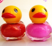 Environmental low carbon quick-drying nail polish cute Duck Model  candy-color bright red the dolls fruit Scent 18ML