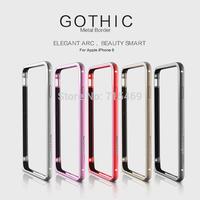Free shipping 60pcs original Nillkin metal Armor Fram for Apple iPhone 6 (4.7 inch) Gothic phone border series +retail box