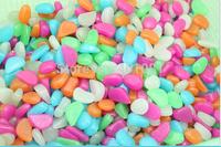 100 pcs/pack  Man-made Glow in the Dark Fluorescent Pebbles Stones Garden Walkway , 100packs/lot