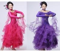 Fashion Flamenco Skirts ,Brand New Dancing Costume ,Ballroom Dance Dress Long Sleeve Dance Performance Dance Wear Plus Size
