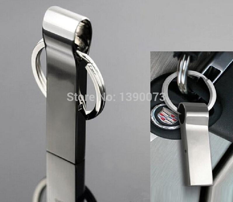 1pcs hot usb Waterproof Metal USB Flash Drives pen drive 64GB 32GB 16GB 128GB 2GB Flash Drive with key ring(China (Mainland))