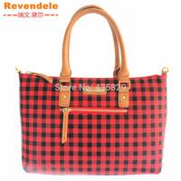 2014 Hot Sale Women's Plaid PVC shoulder bag Revendele Brand Popular Fashion Whole sale(Retail)9169