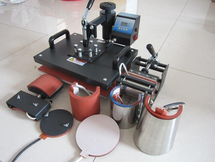 Hot! Free Shipping Euramerican Advanced UDT Design 8 In1 Combo Sublimation Plate Mug Cap TShirt heat press heat transfer machine(China (Mainland))