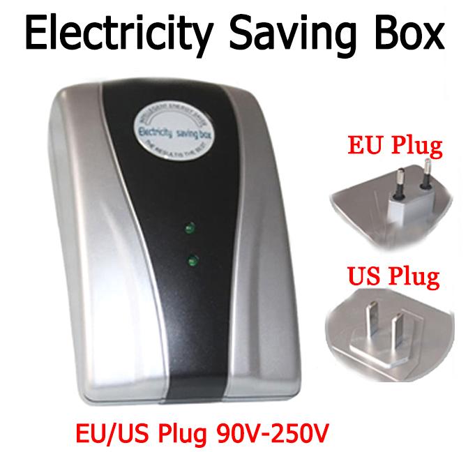 2015 New Type Power Saver Electricity Saving Box Energy Save Electricity Bill device 90V-250V EU US TWO Specifications Plug(China (Mainland))
