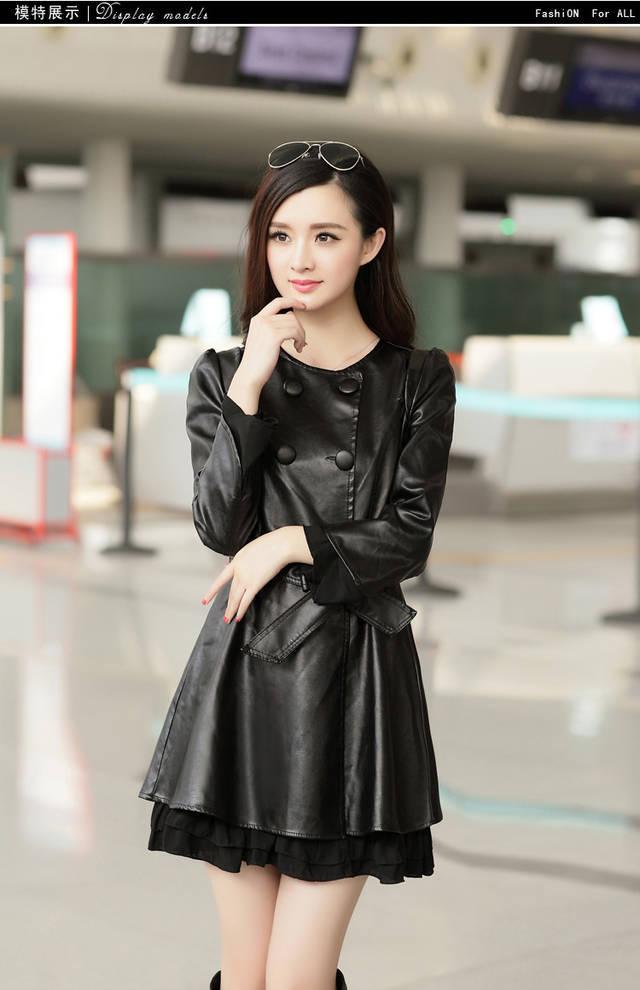 Женская одежда из кожи и замши OM jaquetas ' Coats1171