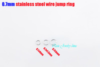 0.7x4mm/0.7x4.5mm/0.7x5mm jump ring stainless steel split rings necklace accessories chains DIY parts 1000pcs per bag