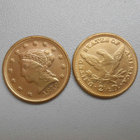 1876 $2.5 Liberty Head Gold Coin  (Gold plated) (FOR COINS COLLECTION ONLY)
