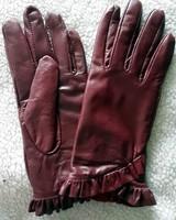 lady fashion style brand design women autumn winter genuine leather gloves fashion decoration gloves