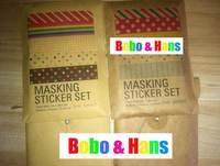 Colorful DIY masking sticker / 27 pcs / set / cute Sign post Label / Multifunction / gift/Wholesale