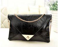 New fashion luxury women banqute bag brand designer PU leather solid handbag messenger bag chain serpentine for girls clutch bag