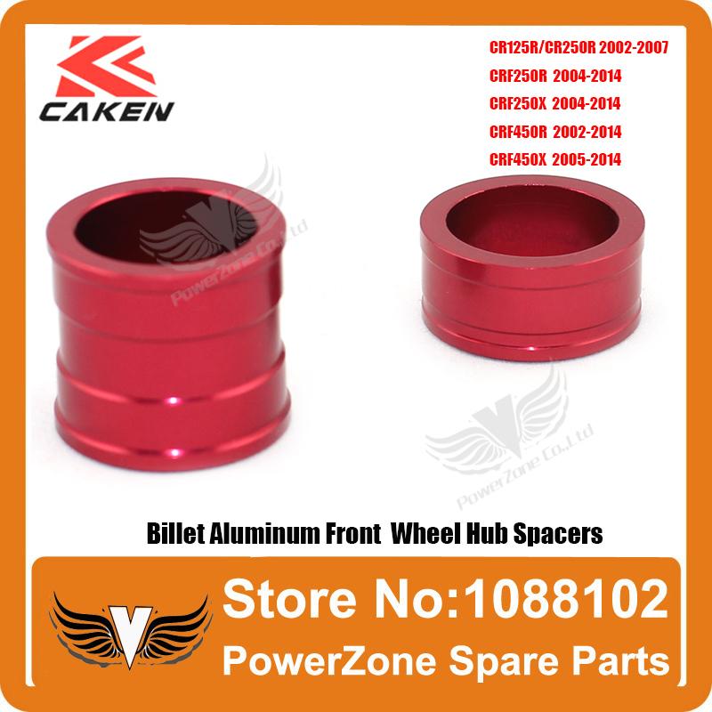 CR 125 250R CRF 250R 250X 450R 450X Billet Aluminum Front Wheel Hub Spacers Fit CRF Motorcross Dirt Bike Free Shipping(China (Mainland))
