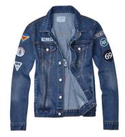 Free Shipping New 2014 Spring Fashion Designer  Plus mens denim jackets and coats men's brazil chaquetas locomotive denim jacket