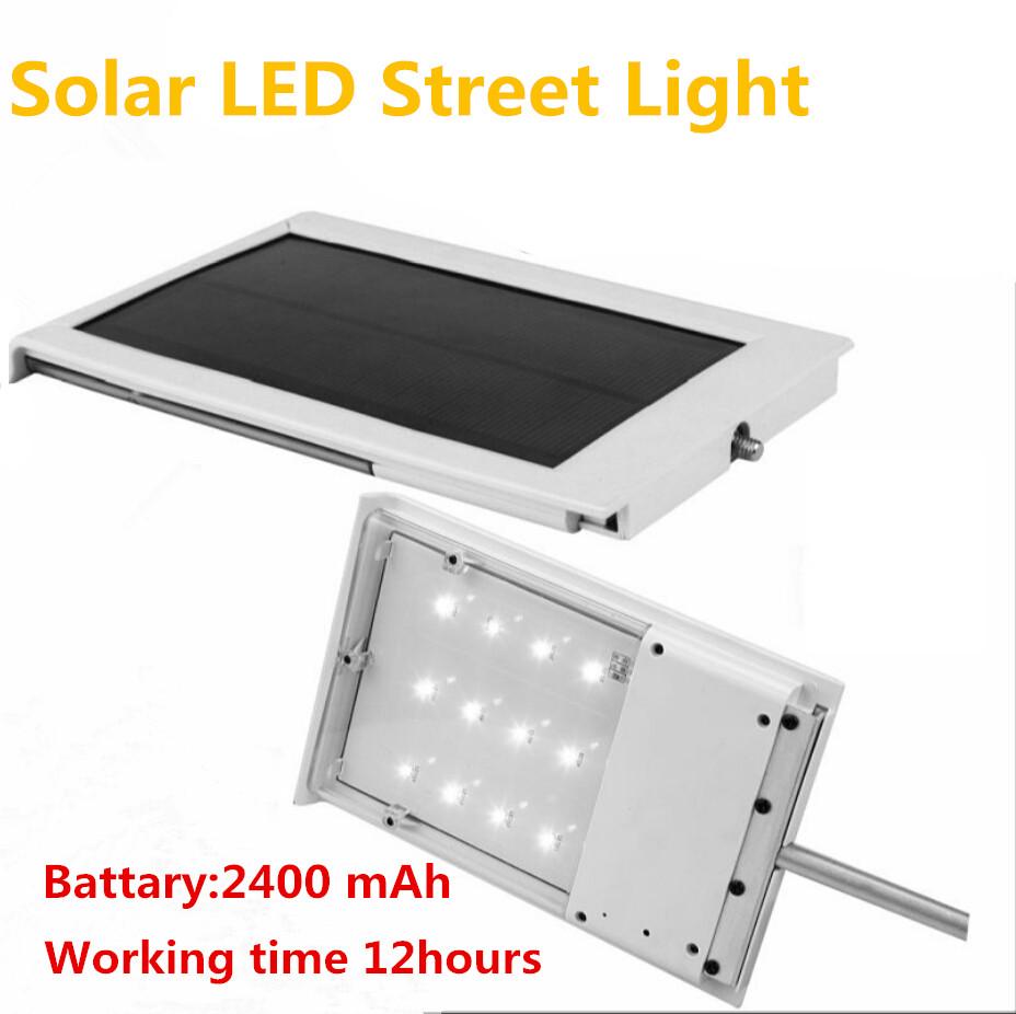 Solar Power LED Street Lamp 12SMD LED Lamp Corridor Courtyard Yard Garden Outdoor Lighting Solar Panel ABS+Aluminum(China (Mainland))