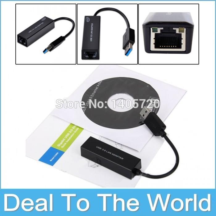 High Quality USB 3.0 10/100/1000Mbps Gigabit Ethernet USB To Lan RJ45 Ethernet Network Card Adapter Free Shipping(China (Mainland))